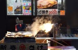 Osaka, Japan - Japanese street food skrewer chicken Stock Photos