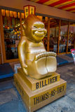 OSAKA, JAPAN - JULY 18, 2017: Billiken The God of Things As They Ought To Be Statue is everywhere in the Shinsekai Royalty Free Stock Image