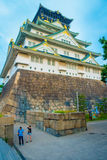 OSAKA, JAPAN - JULY 18, 2017: Osaka Castle in Osaka, Japan. The castle is one of Japan`s most famous landmarks.  royalty free stock photo