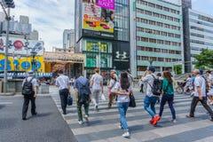 OSAKA , JAPAN - June 29 2018 : Dotonbori entertainment district stock photos
