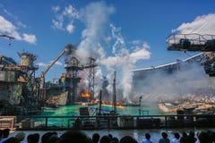 OSAKA JAPAN - Juni 2, 2016 Lopp i universella Japan arkivbilder