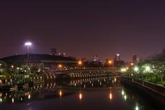 Osaka Japan Night Fotografía de archivo