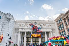 The Amazing Adventures of Spider Man at Universal Studios Japan Stock Photos