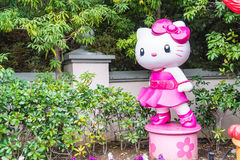 OSAKA, JAPAN - NOV 21 2016 : Elmo, Kitty and Snoopy in Halloween. OSAKA, JAPAN - NOV 21 2016: Elmo, Kitty and Snoopy in Halloween costume statues in Universal stock photography