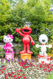 OSAKA, JAPAN - NOV 21 2016 : Elmo, Kitty and Snoopy in Halloween Stock Images