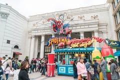 Osaka, Japan - NOV 21 2016 : Spiderman ride at Universal Globe o Stock Image