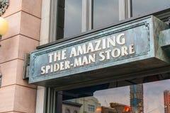 Osaka, Japan - NOV 21 2016 : Spiderman ride at Universal Globe o Royalty Free Stock Image