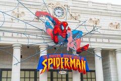 Osaka, Japan - NOV 21 2016 : Spiderman ride at Universal Globe o Royalty Free Stock Photo