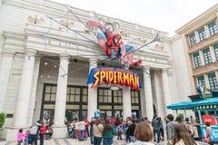 Osaka, Japan - NOV 21 2016 : Spiderman ride at Universal Globe o Royalty Free Stock Photos