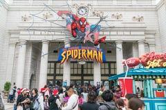 Osaka, Japan - NOV 21 2016 : Spiderman ride at Universal Globe o Royalty Free Stock Photography