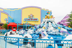 Osaka, Japan - NOV 21 2016: The theme park attractions based on Stock Images