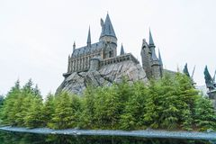 Osaka, Japan - NOV 21, 2016: The Wizarding World of Harry Potter. In Universal Studios Japan. Universal Studios Japan is a theme park in Osaka, Japan Stock Photo