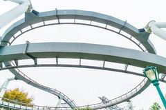 Osaka, Japan - 21. November 2016: Achterbahn in Universal Studios Lizenzfreies Stockfoto
