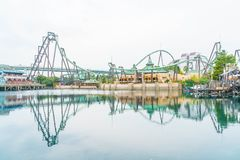 Osaka, Japan - 21. November 2016: Achterbahn in Universal Studios Stockfoto