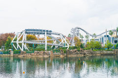 Osaka, Japan - 21. November 2016: Achterbahn in Universal Studios Stockbilder