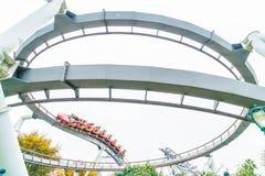 Osaka, Japan - 21. November 2016: Achterbahn in Universal Studios Lizenzfreies Stockbild