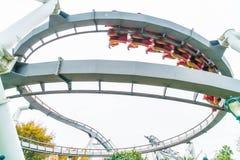 Osaka, Japan - 21. November 2016: Achterbahn in Universal Studios Stockbild