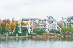 Osaka, Japan - 21. November 2016: Achterbahn in Universal Studios Lizenzfreie Stockfotos