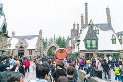 Osaka Japan - NOVEMBER 21, 2016: Den Wizarding världen av Harry Potter royaltyfria foton