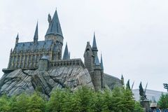 Osaka Japan - NOVEMBER 21, 2016: Den Wizarding världen av Harry Potter royaltyfri foto