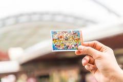 Osaka, Japan - 21. November 2016: Die neue Karte von Universal Studios Stockfotografie