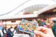 Osaka, Japan - 21. November 2016: Die neue Karte von Universal Studios Stockbild