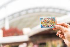 Osaka, Japan - 21. November 2016: Die neue Karte von Universal Studios Lizenzfreie Stockbilder