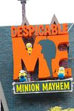 Entrance Sign of Despicable Me Minion Mayhem Stock Photos