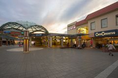 Osaka japan - november5,2018 : exterior of mino-o trains station,mino station is end of hunkyu-mino trains line royalty free stock images