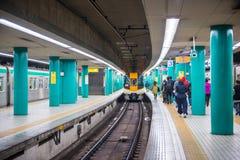 Osaka, Japan - November 14, 2017 :Passengers waiting train in su Stock Photography