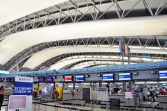 OSAKA, JAPAN - OCT 24: Kansai Internationale die Luchthaven, op 20 wordt genomen Stock Foto
