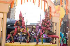 OSAKA, JAPAN - Oct 24, 2017: Parade show in Universal studios Japan. There are many tourists to visit Universal Studios Japan stock photos