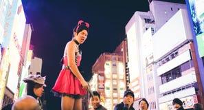 OSAKA,JAPAN - OCTOBER 31 2015 : Dotonbori shopping street in Osa Stock Photography