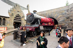 OSAKA, JAPAN - OCTOBER 13, 2016: The Wizarding World. Of Harry Potter in Universal Studios Japan. Universal Studios Japan is a theme park in Osaka, Japan Royalty Free Stock Images