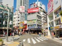 Osaka, Japan - 27. Oktober 2014: amerikanisches Dorf Amerika-Murs, Lizenzfreie Stockfotos