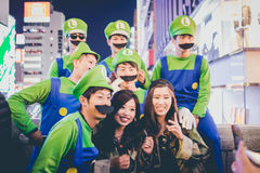 OSAKA, JAPAN - OKTOBER 31 2015: Dotonbori het winkelen straat in Osa Royalty-vrije Stock Fotografie