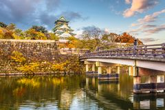 Osaka Castle in Autumn Royalty Free Stock Image