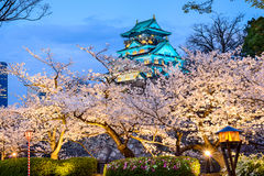 Osaka, Japan at Osaka Castle in Spring Stock Photo