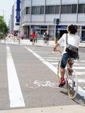 Osaka Japan rowerowi ludzie Obrazy Stock
