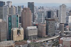 Umeda Sky Building view. Osaka, Japan 2017 Royalty Free Stock Image