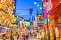 Osaka Japan Shinsekai foto de archivo