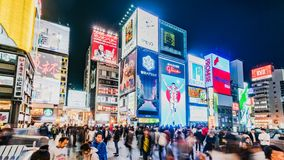 Osaka Japan Shopping District Timelapse clips vidéos