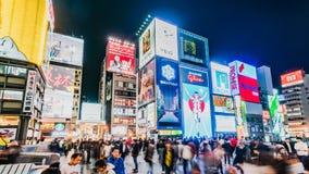 Osaka Japan Shopping District Timelapse banque de vidéos