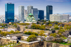 Osaka, Japan Spring Cityscape Royalty Free Stock Photography