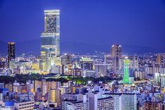 Osaka, Japan-Stadtbild Stockfotografie