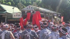 Osaka Japan - Tenjin Matsuri festival stock video