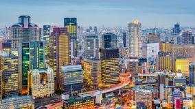 Osaka Japan Umeda Cityscape lager videofilmer