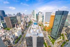 Osaka Japan Umeda områdescityscape royaltyfria bilder