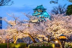 Osaka, Japón en Osaka Castle en primavera Foto de archivo