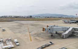 OSAKA, JAPON - 6 décembre 2015 : Aéroport international de Kansai W Photo stock